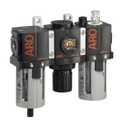 "Ingersoll Rand ARO C38221-800 Filter, Regulator, Lubricator (FRL) 1/4"" NPT | 61 CFM | Manual Drain"