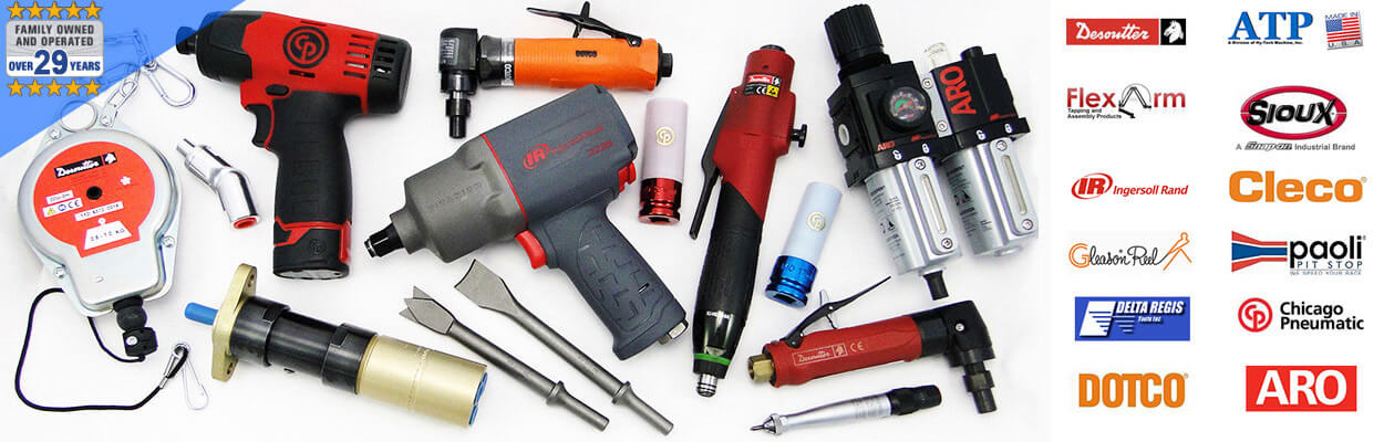 We supply Desoutter, Ingersoll Rand, Cleco, Sioux and more top brands.