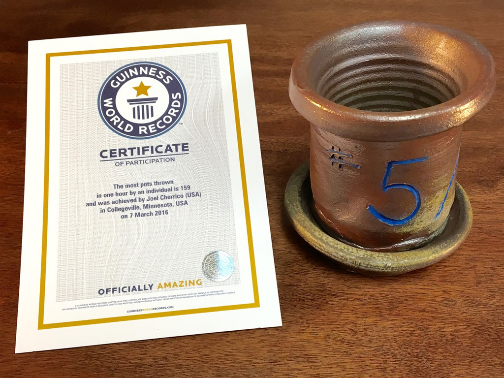 World Record Planter #5/159 and Certificate of Authenticity