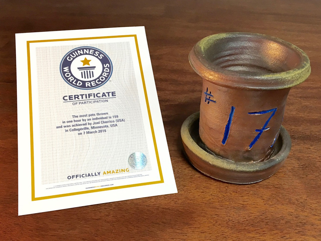 World Record Planter #17/159 and Certificate of Authenticity