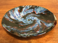 """Stoneware Wall Platter Inspired by a Planetary Nebula, Roughly 14"""" diameter by 2.5"""" tall (SK707)"""