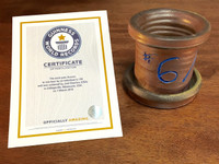 World Record Planter #6/159 and Certificate of Authenticity