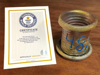 World Record Planter #48/159 and Certificate of Authenticity