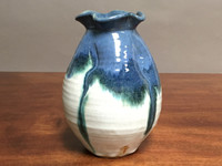 Nuka Cobalt Vase, Roughly 9 Inches Tall by 6.5 Inches Wide (ST260, J260)