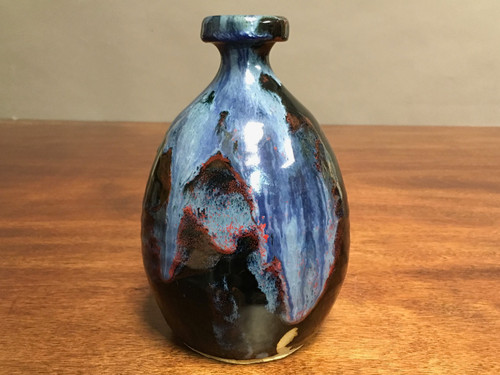Cosmic Vase, roughly 6 inches tall, Inspired by a Planetary Nebula (SK530)