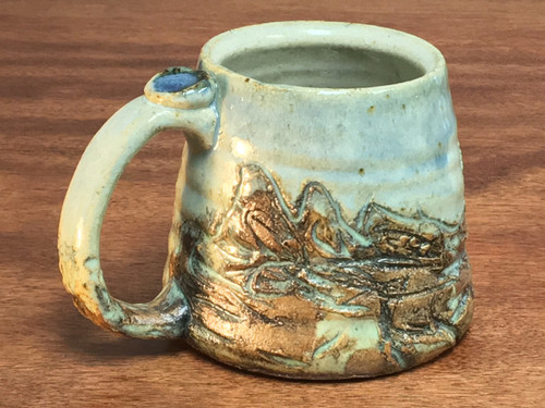 Small Mountain Mug, roughly 10-11 Ounce Size (E117)