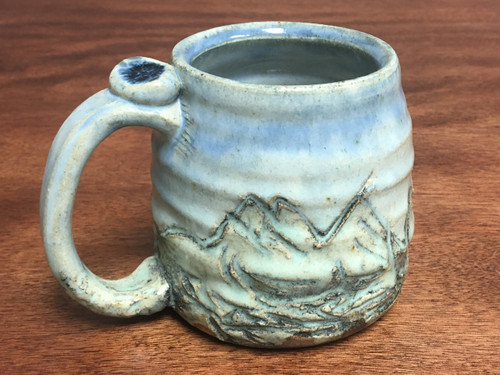 Small Mountain Mug, roughly 10 Ounce Size (E130)