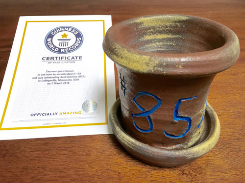 World Record Planter #85/159 and Certificate of Authenticity