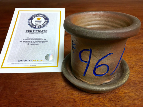 World Record Planter #96/159 and Certificate of Authenticity