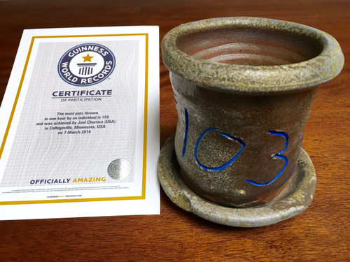 World Record Planter #103/159 and Certificate of Authenticity