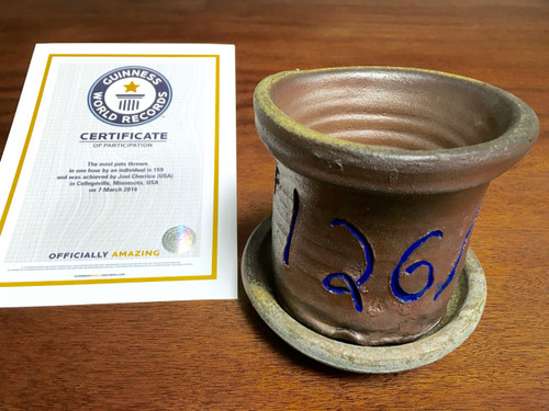 World Record Planter #126/159 and Certificate of Authenticity