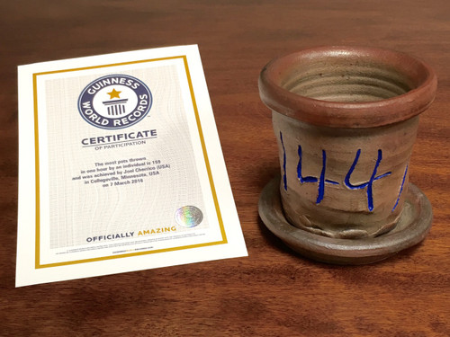 World Record Planter #144/159 and Certificate of Authenticity