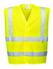 Portwest Hi-Vis Vest- Flame Resistant: Front View Yellow