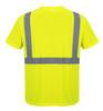 Portwest Hi- Vis Pocket T-Shirt - SET OF TWO : Back View Yellow