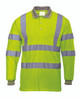Portwest Hi-Vis Long Sleeved Polo - SET OF TWO: Front View Yellow