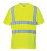 Portwest Hi-Vis T-Shirt - SET OF TWO-S478: Front View Yellow