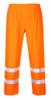 Portwest Hi-Vis Traffic Pants - SET OF TWO: Front View Orange