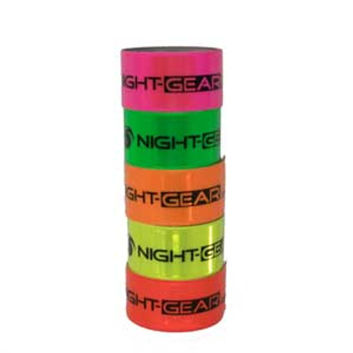 Nigh-Gear Brand reflective slap bands to be seen at night.