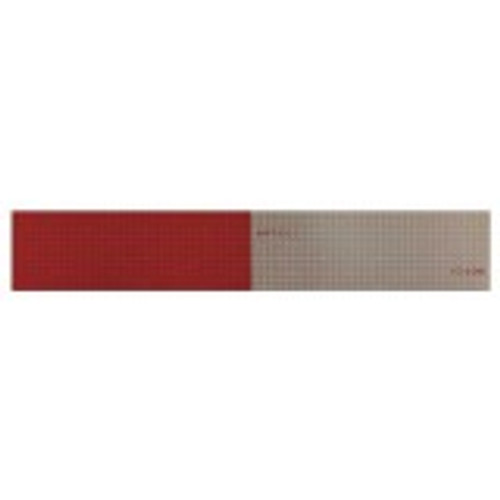 """Reflexite V82 DOT-C2 Conspicuity Tape 6""""Red/6""""White - 2""""X12"""" Strip"""