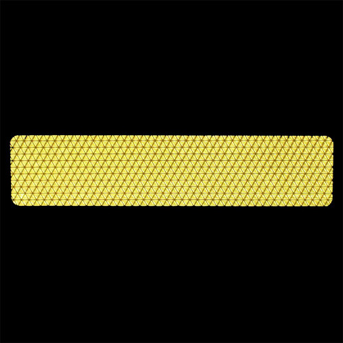 Reflexite Reflective Yellow Agricultural Tape Night Detail