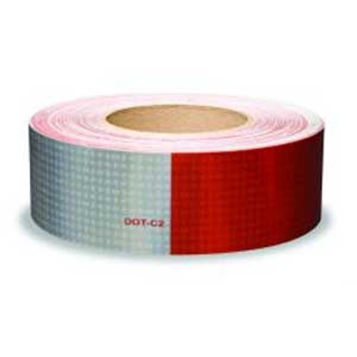 """DOT Reflexite Tape in 7"""" white, 11"""" red pattern - 150 foot roll"""