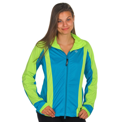 illumiNITE Reflective Women's Portland Jacket Peacock/Flo Lime