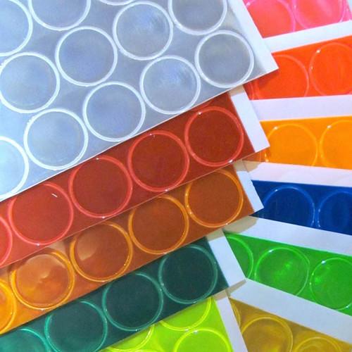 Reflective 1 Inch Adhesive Vinyl Hot Dots - Sheet of 32