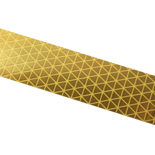 Gold Reflexite V92 Daybright Conspicuity Tape 1x18 Strip