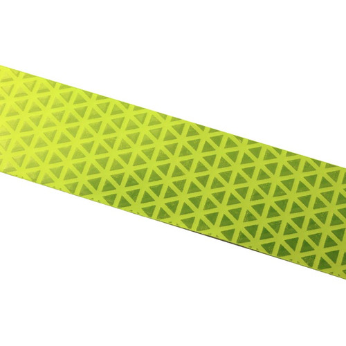 FL Lime Reflexite V92 Daybright Conspicuity Tape 1x18 Strip