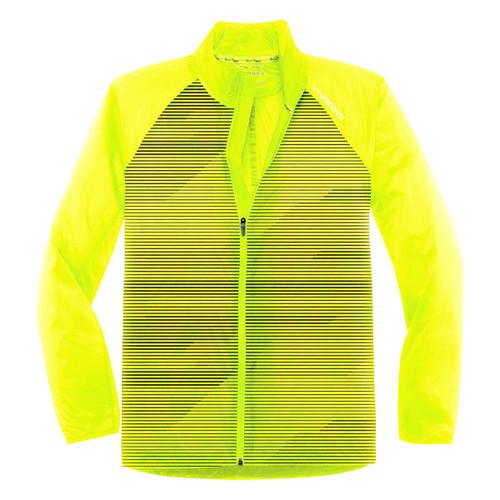 Brooks Running Men's Lite Shelter Device Lightweight NightLife Yellow Jacket