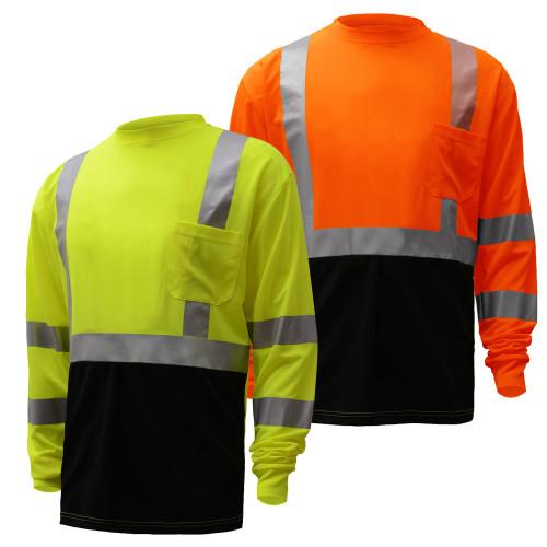 5113/5114 Class 3 Black Bottom Long Sleeve T-Shirt