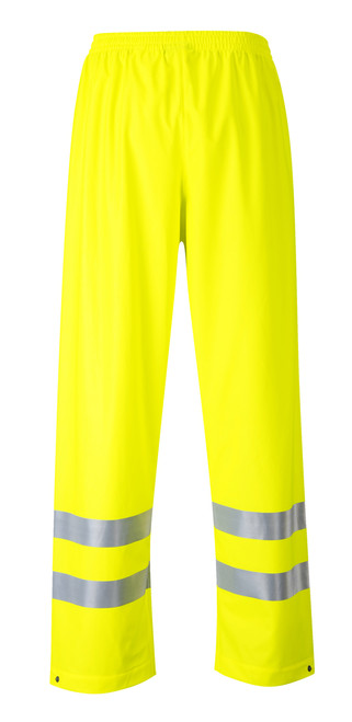 Portwest Sealtex Flame Hi-Vis Pants: Front View Yellow