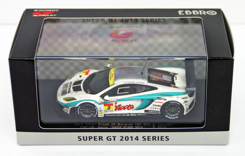 Ebbro 45247 SYNTIUM Apple MP4-12C SUPER GT300 2014 No.2 1/43 Scale