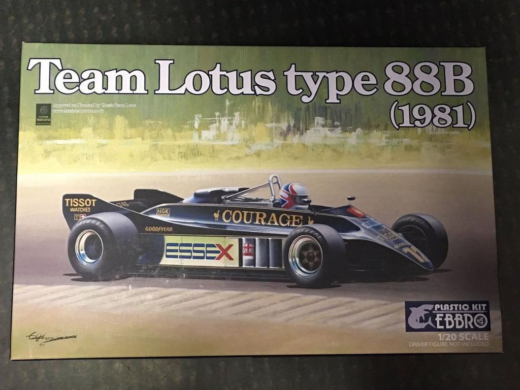 Ebbro 20010 Team Lotus Type 88B 1981 1/20 Scale plastic model Kit