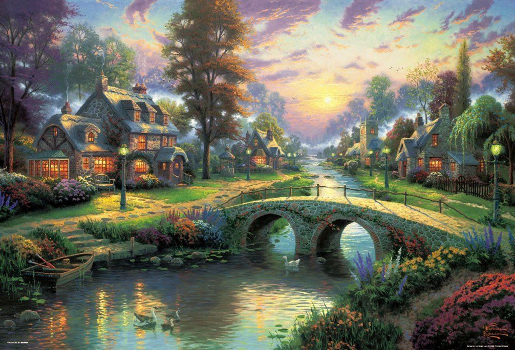 Beverly Jigsaw Puzzle 61-389 Thomas Kinkade Happy Evening (1000 Pieces)