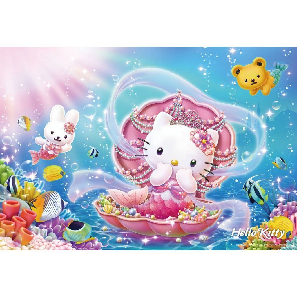 Beverly Jigsaw Puzzle L74-101 Sanrio Hello Kitty Mermaid Princess (150 L-Pieces)