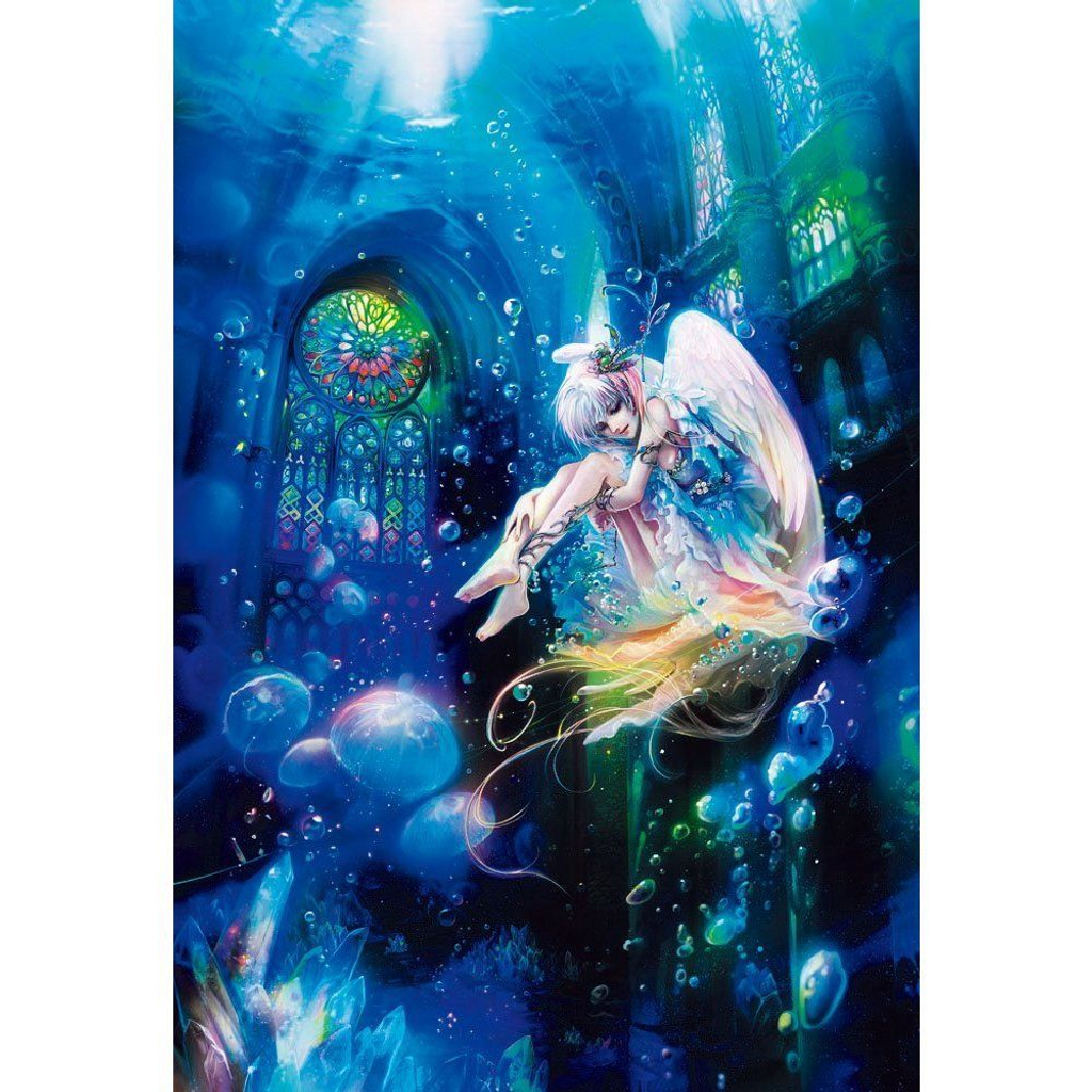 Beverly Jigsaw Puzzle M81-529 Fantasy Art Aqua Angel (1000 S-Pieces)
