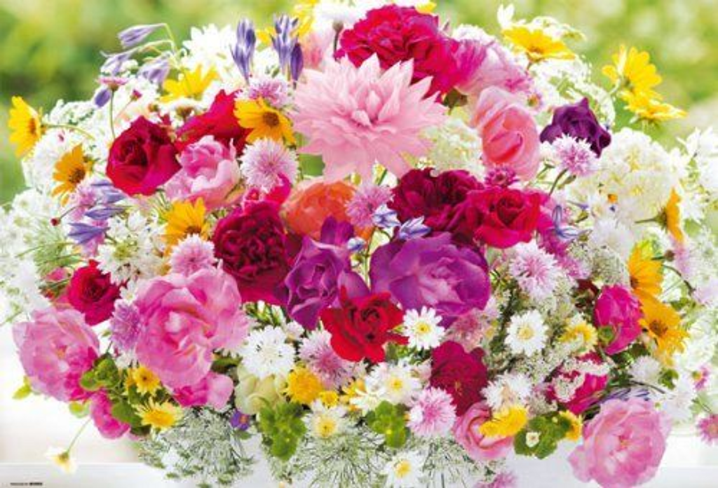Beverly Jigsaw Puzzle M81-841 Flower Art Beautiful Color (1000 S-Pieces)
