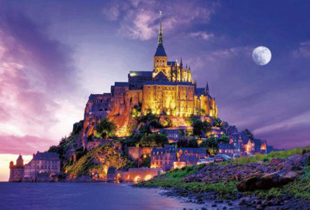 Beverly Jigsaw Puzzle S72-526 Mont Saint-Michel Twilight (2000 S-Pieces)
