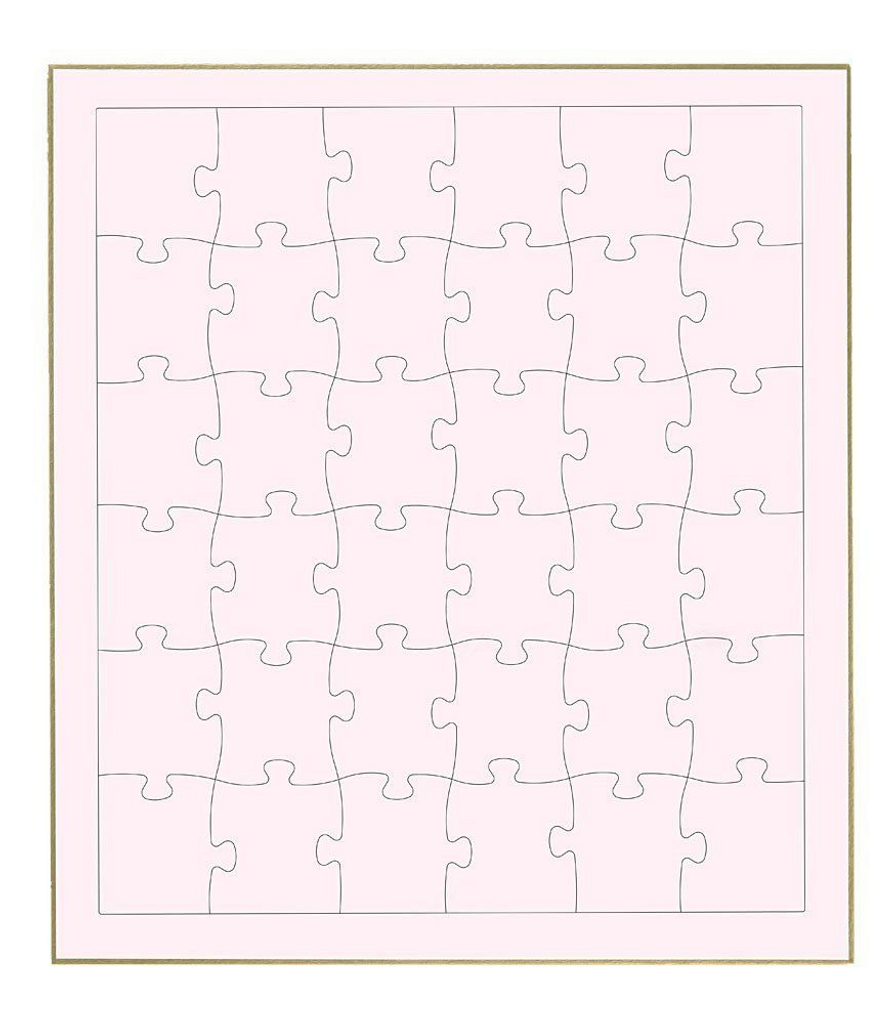 Beverly Jigsaw Puzzle WP-002 Signature Board Jigsaw Pink (36 Pieces)