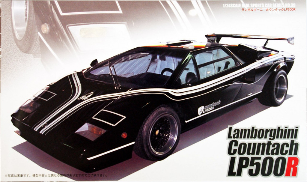 Fujimi RS-39 Lamborghini Countach LP500R 1/24 Scale Kit