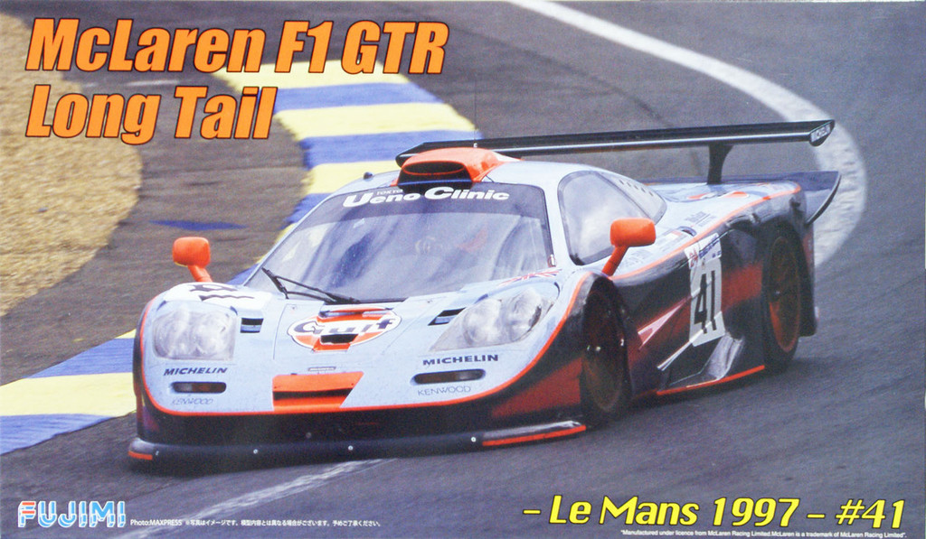 Fujimi RS-45 McLaren F1 GTR Long Tail Le Mans 1997 #41 1/24 Scale Kit