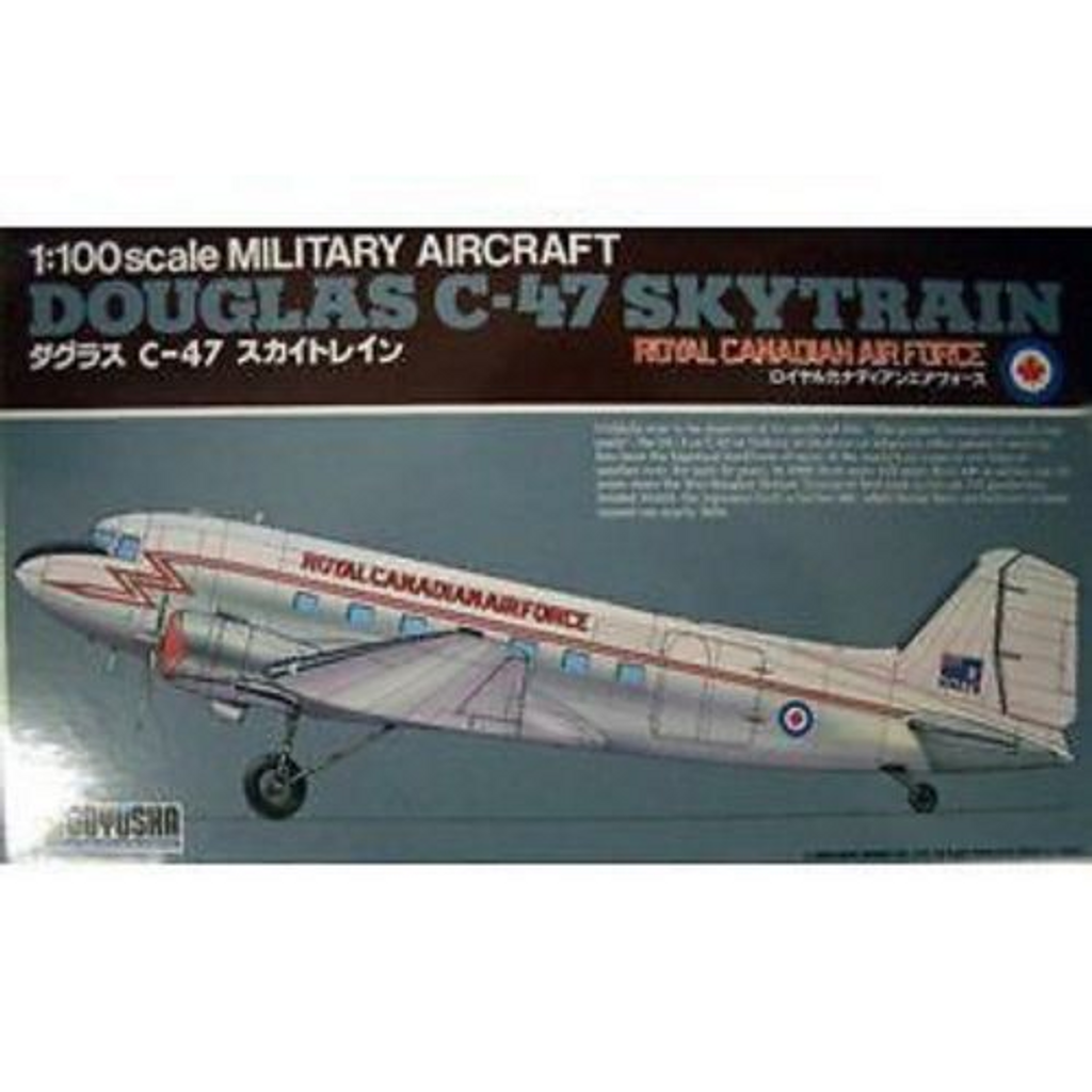 Doyusha 400241 C-47 Canada Royal Canadian Airforce 1/100 Scale Plastic Kit