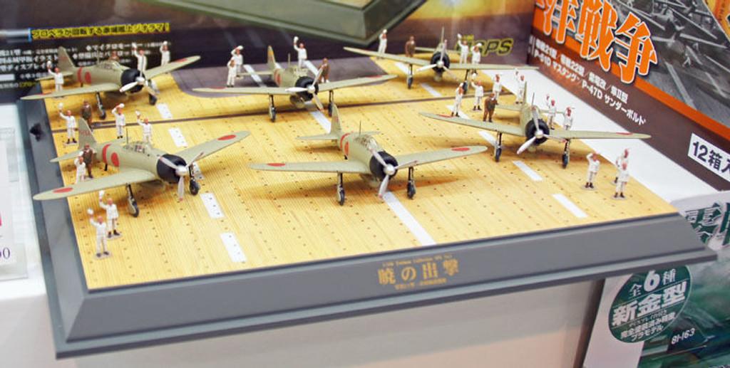 Doyusha 401330 Upper Deck of Aircraft Carrier Akagi Zero Fighter Type 21 1/100 Scale Model Kit
