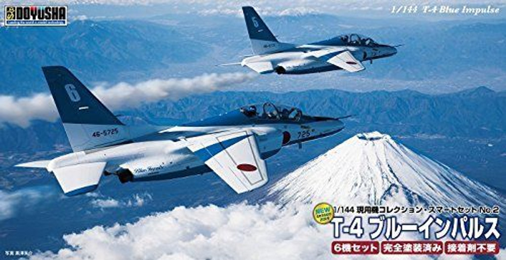 Doyusha 401354 T-4 Blue Inpulse 6 Set 1/144 Pre-painted Scale Kit