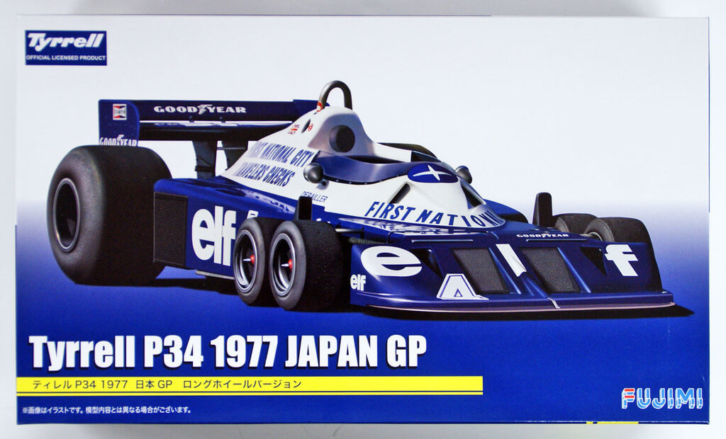 Fujimi GP17 Tyrrell P34 1977 Japan GP Long Wheel Ver. 1/20 Scale kit