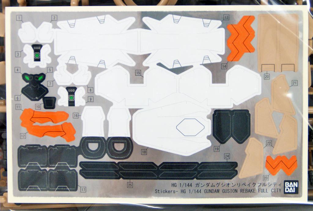Bandai Iron-Blooded Orphans 023 Gundam Gusion Rebake Full City 1/144 Scale Kit