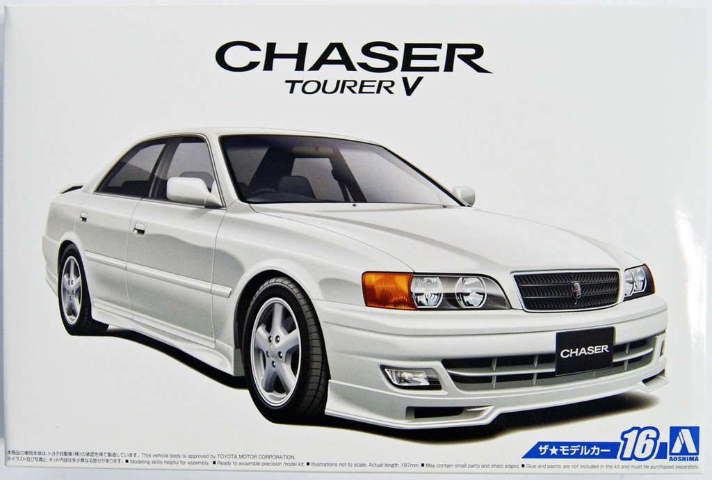 Aoshima 52136 The Model Car 16 Toyota JZX100 Chaser Tourer V 1998 1/24 Scale Kit