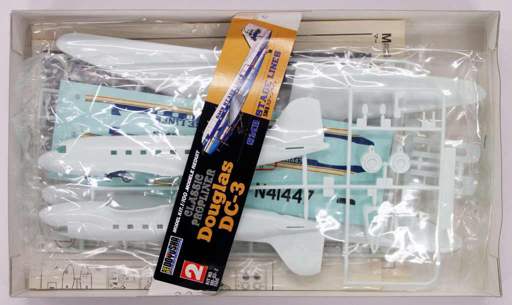 Doyusha 400203 DC-3 Douglas Dakota SMB Stage Lines 1/100 Scale Plastic Kit