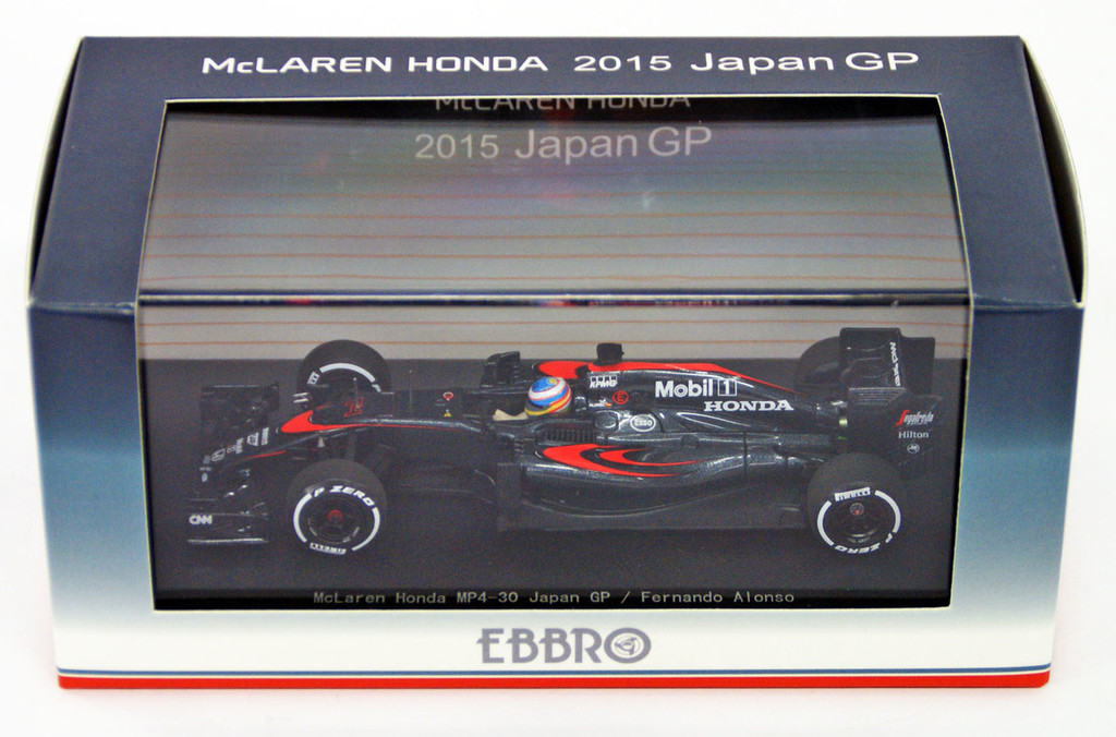 Ebbro 45328 McLaren Honda MP4-30 GP No.14 Fernando Alonso 1/43 Scale